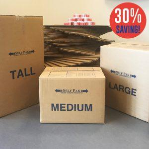 Medium Cardboard Box Bundle Offer